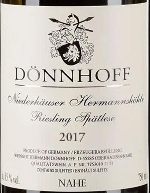 Dönnhoff Riesling Spätlese Niederhäuser Hermannshöhle 2017