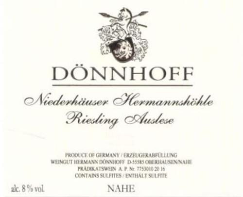 Dönnhoff Riesling Auslese Niederhäuser Hermannshöhle Goldkapsel 2017 375ml