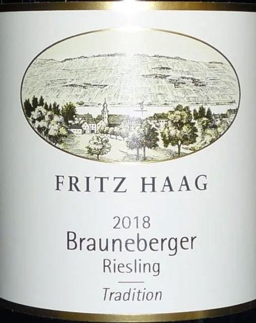 Haag/Fritz Brauneberger Riesling Feinherb Tradition 2018