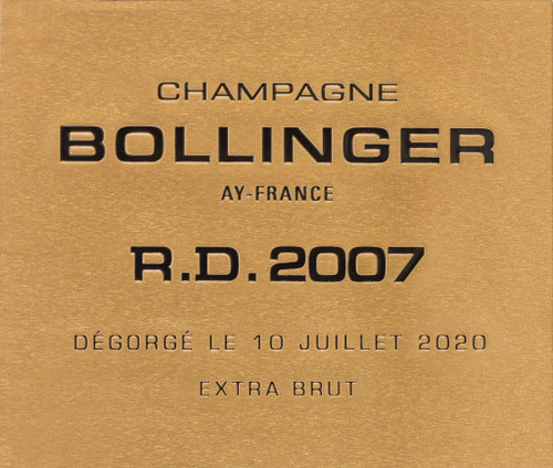 Bollinger Extra Brut Champagne R.D. 2007 1.5L