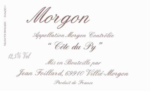 Foillard/Jean Morgon Côte du Py 2019 3L