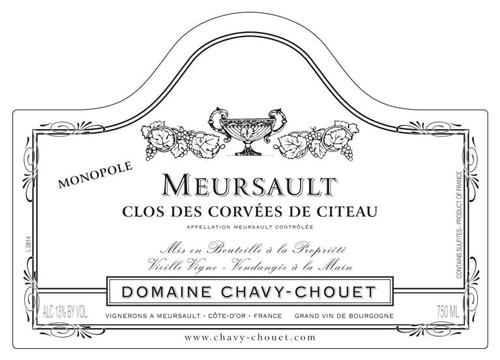 Chavy-Chouet Meursault Clos des Corvées de Citeau monopole 2019