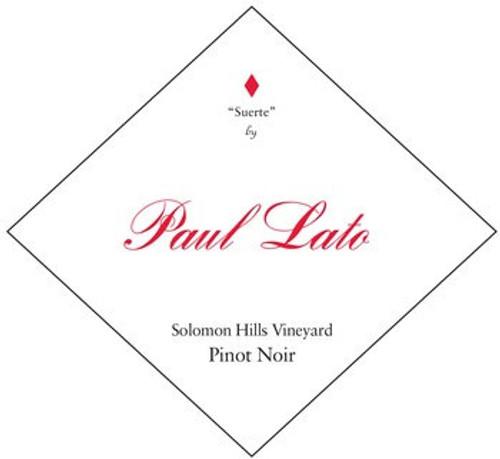 Paul Lato Pinot Noir Salomon Hills Santa Maria Valley Suerte 2019
