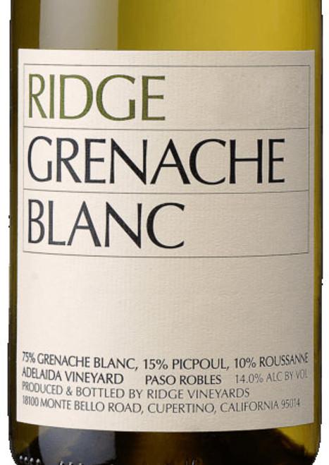 Ridge Grenache Blanc Paso Robles Adelaida Vineyard 2020