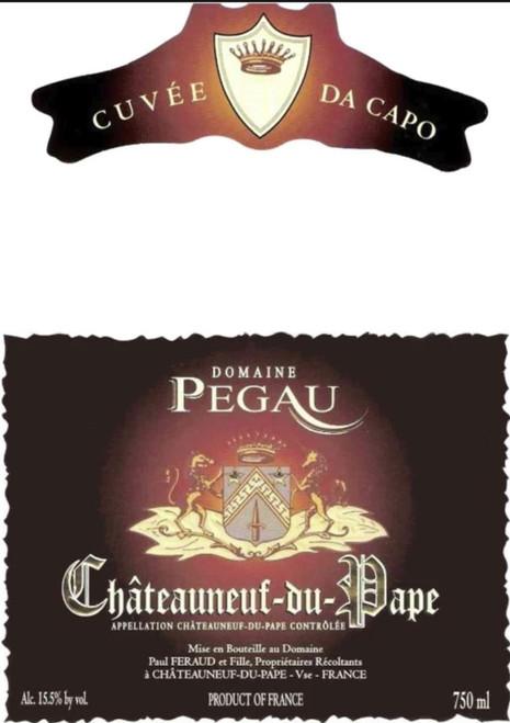 Pégaü Châteauneuf-du-Pape Cuvée da Capo 2015 1.5L