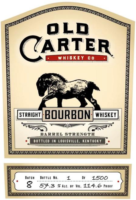 Old Carter Straight Rye Whiskey Batch # 8