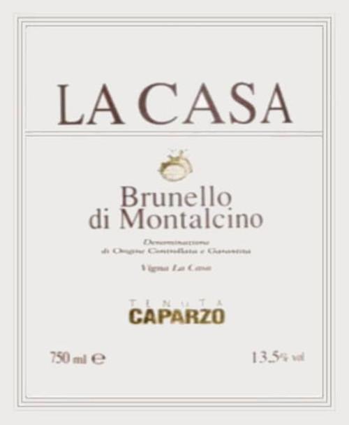Caparzo Brunello di Montalcino La Casa 2004
