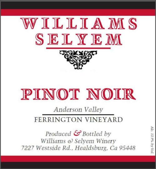 Williams-Selyem Pinot Noir Anderson Valley Ferrington Vineyard 2019
