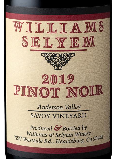 Williams-Selyem Pinot Noir Anderson Valley Savoy Vineyard 2019