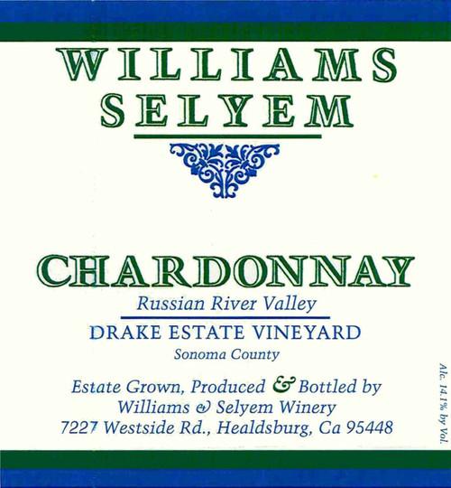 Williams-Selyem Chardonnay Russian River Valley Drake Estate Vyd 2019