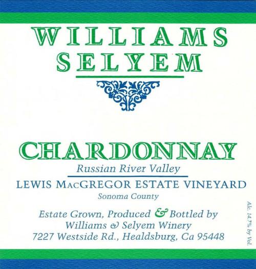 Williams-Selyem Chardonnay RRV Lewis MacGregor Estate Vineyard 2019
