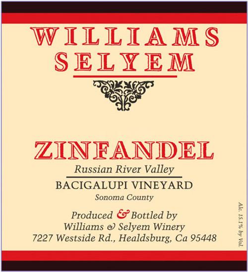 Williams-Selyem Zinfandel Russian River Valley Bacigalupi Vyd. 2019