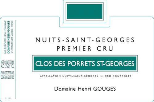 Gouges Nuits-St-Georges 1er cru Clos des Porrets Blanc 2018