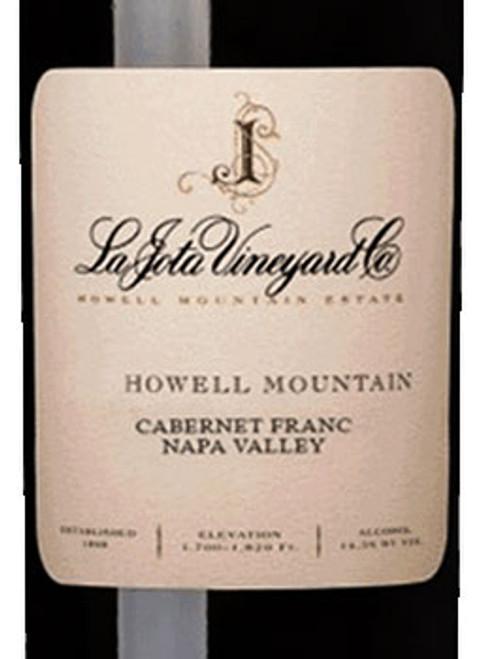 La Jota Cabernet Franc Napa Valley Howell Mountain 2018