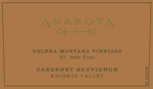 Anakota Cabernet Sauvignon Knights Valley Helena Montana Vineyard 2018