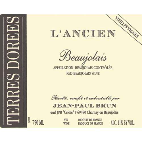 Terres Dorées Beaujolais L'Ancien Vieilles Vignes 2019