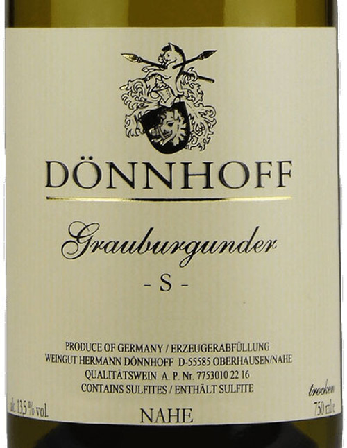 "Dönnhoff Grauburgunder Trocken ""S"" 2018"