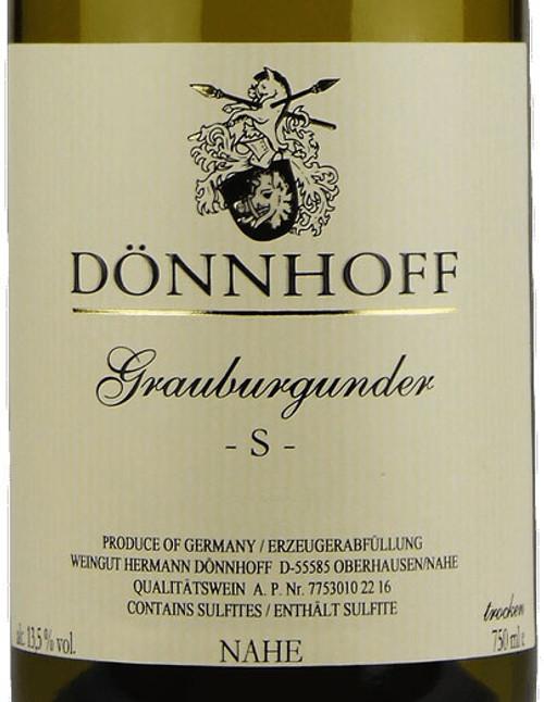 "Dönnhoff Grauburgunder Trocken ""S"" 2019"