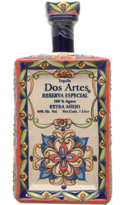 Dos Artes Reserva Especial Extra Añejo Tequila (ceramic square bottle) 1L