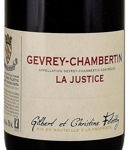 "Felettig Gevrey-Chambertin ""La Justice"" 2018"