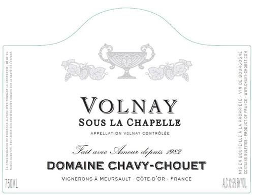 Chavy-Chouet Volnay 1er cru Sous la Chapelle 2018