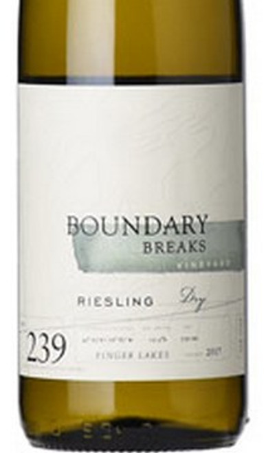 Boundary Breaks Riesling Finger Lakes No. 239 Dry 2018