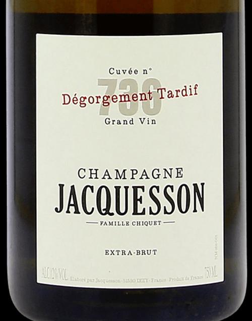 Jacquesson Extra Brut Champagne Cuvée 736 Dégorgement Tardif NV