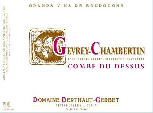 Berthaut-Gerbet Gevrey-Chambertin Combe du Dessus 2018