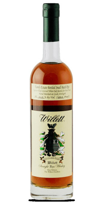 Willett Family Estate Small Batch Straight Rye 4 Year Old