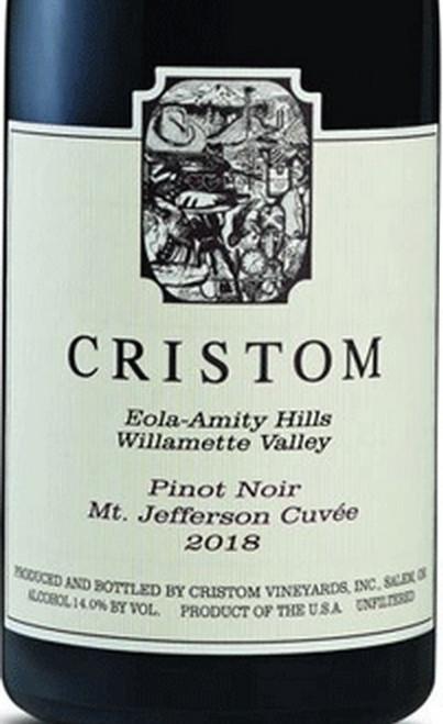 Cristom Pinot Noir Willamette Valley Mt Jefferson Cuvée 2018