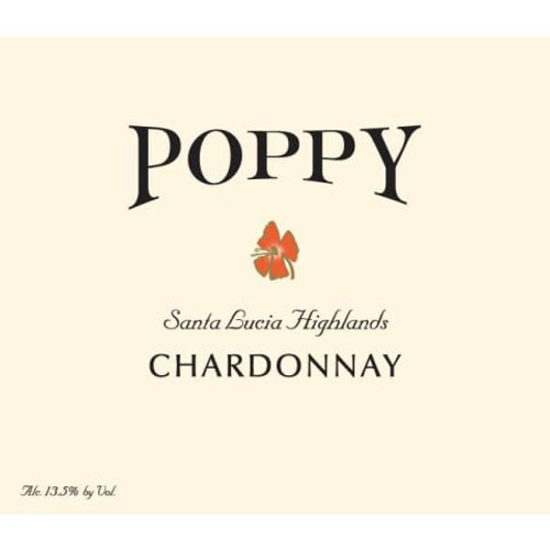 Poppy Chardonnay Santa Lucia Highlands 2017