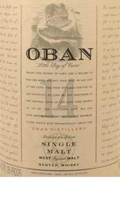 Oban 14 Year Single Highland Malt Scotch Whisky
