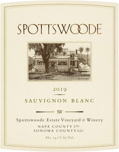 Spottswoode Sauvignon Blanc Napa-Sonoma Counties 2019
