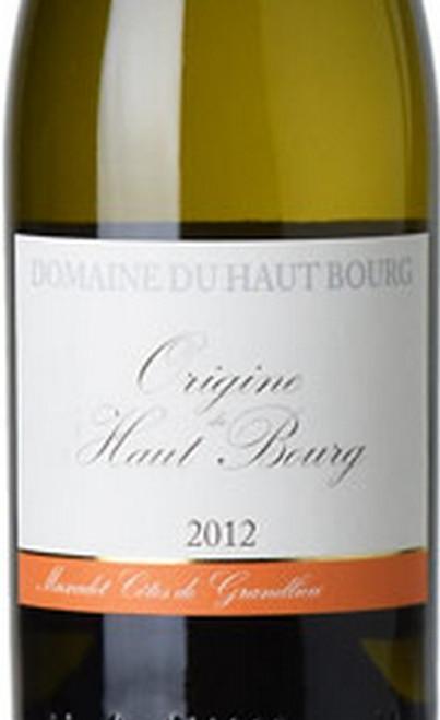 Haut Bourg Muscadet Côtes de Grandlieu Origine 2012
