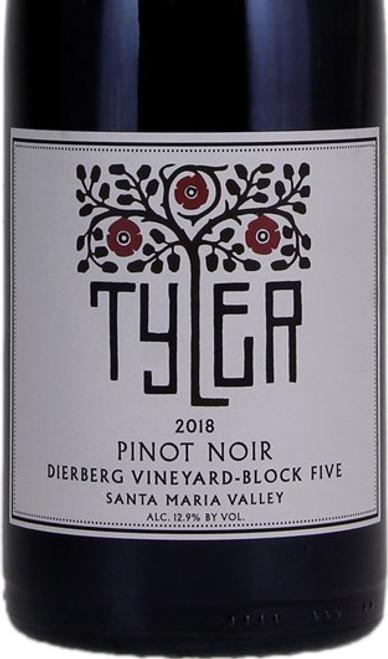 Tyler Pinot Noir Santa Maria Valley Dierberg Block 5 2018