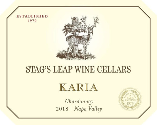 Stag's Leap Wine Cellars Chardonnay Napa Valley Karia 2018