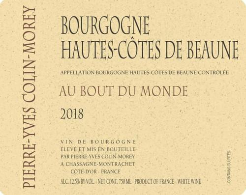 Colin-Morey/Pierre-Yves Hautes-Côtes de Beaune Blanc Bout du Mond 2018