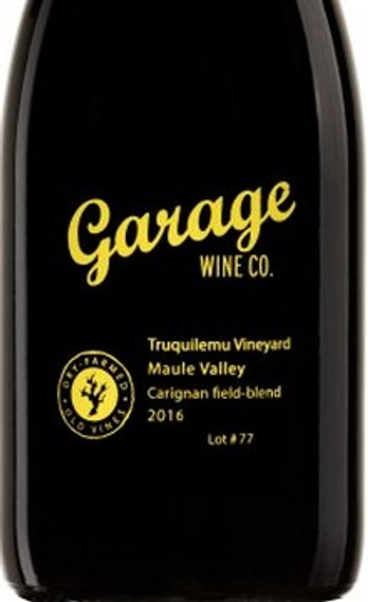 Garage Wine Co. Carignan Truquilemu Vineyard Lot #77 2016