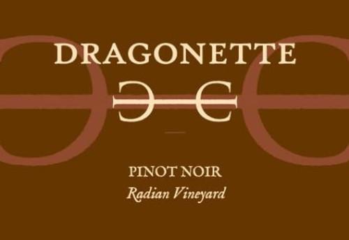 Dragonette Pinot Noir Santa Rita Hills Radian Vineyard 2018