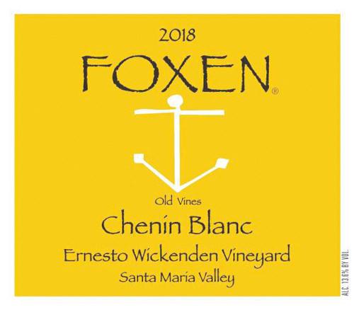 Foxen Chenin Blanc Santa Maria Valley Ernesto Wickenden Vyd. 2018