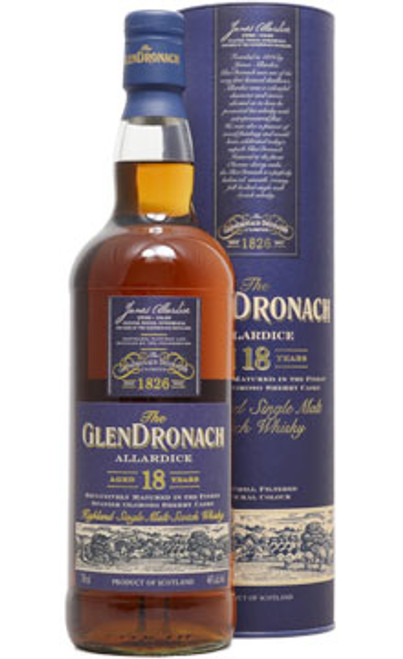 Glendronach Highland Single Malt Scotch 18 Year Old