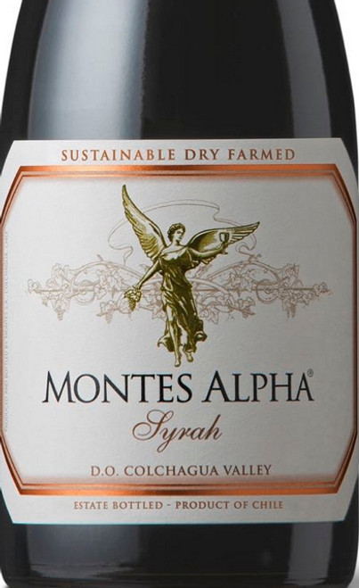 Montes Syrah Colchagua Valley Apalta Vineyard Alpha 2017