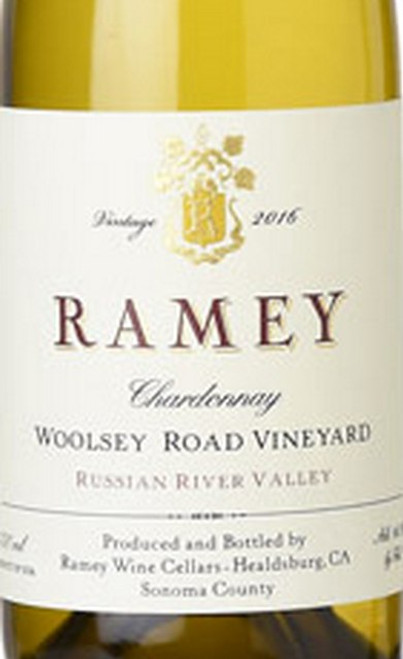Ramey Chardonnay Russian River Valley Woolsey Road Vineyard 2017