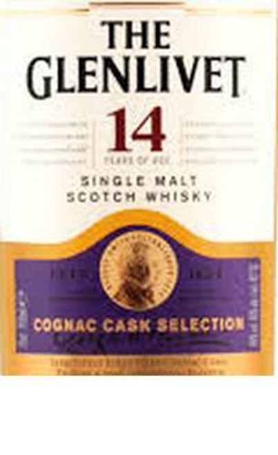 Glenlivet 14 Year Old Single Malt Scotch Whisky Cognac Cask