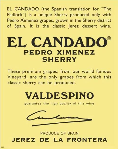 Valdespino Pedro Ximenez Sherry El Candado NV