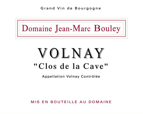 Bouley/Jean-Marc Volnay Clos de la Cave 2018