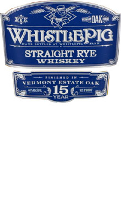 WhistlePig Farm 15 Year Old Straight Rye Whiskey