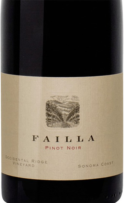 Failla Pinot Noir Sonoma Coast Occidental Ridge Vineyard 2018