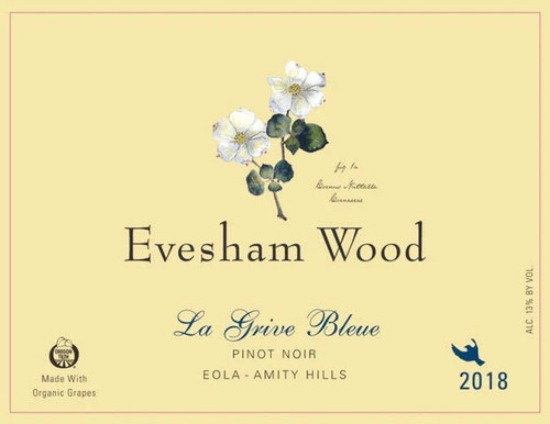 Evesham Wood Pinot Noir La Grive Bleue 2018