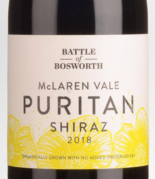 Battle of Bosworth Puritan Shiraz Organic McLaren Vale 2018
